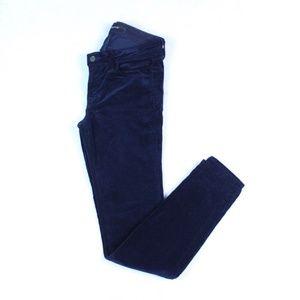 J Brand Womens Corduroy Skinny Leg Pants Mid Rise